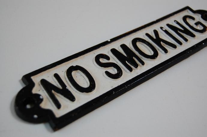 NO SMOKING サインプレート¥972