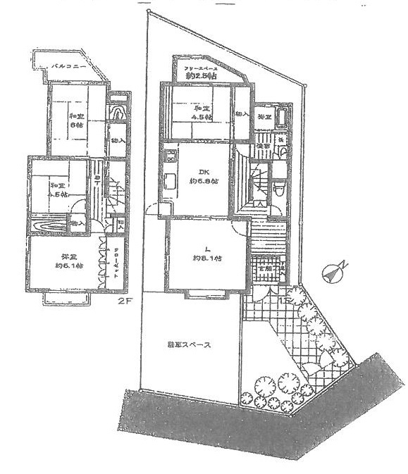 ラフな塗壁と桜並木のある家 京都市左京区 貸家 125,000円