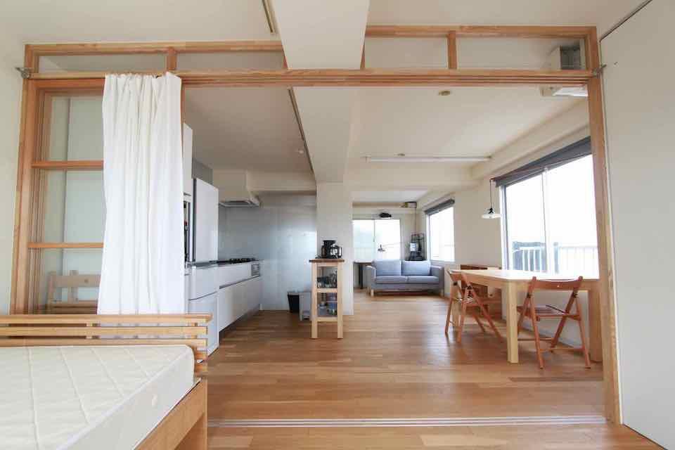家具つき、青空つきマンション 京都市北区小山 8万円
